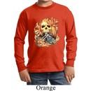 Kids Biker Shirt Basic Biker Flames Long Sleeve Tee T-Shirt