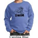 Kids Black Penguin Power Swim Youth Sweatshirt