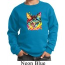 Kids Cat Sweatshirt Blue Eyes Cat Sweat Shirt