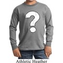 Kids Distressed Question Long Sleeve Shirt