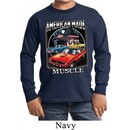 Kids Dodge Shirt Chrysler American Made Long Sleeve Tee T-Shirt