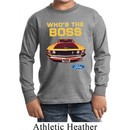 Kids Ford Shirt Mustang Who's The Boss Long Sleeve Shirt