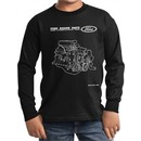 Kids Ford Tee Engine Parts Youth Long Sleeve Shirt