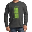 Kids Ford Tee Green Mustang Stripe Youth Long Sleeve