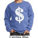Kids Funny Sweatshirt Distressed Dollar Sign Sweat Shirt