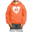 Kids Peace Hoodie Hippie Heart Peace Youth Hoody