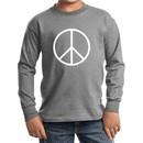 Kids Peace Shirt Basic Peace White Long Sleeve Tee T-Shirt