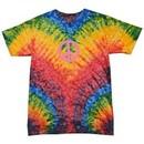 Kids Peace Tie Dye Shirt Pink Peace Woodstock Youth Tie Dye Tee