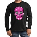 Kids Pink Sugar Skull Youth Long Sleeve