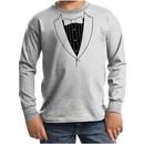 Kids Shirt Basic Black Tuxedo Long Sleeve Tee T-Shirt