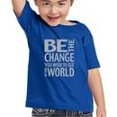 Kids Shirt Be The Change Toddler Tee T-Shirt