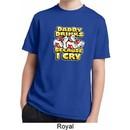 Kids Shirt Daddy Drinks Because I Cry Moisture Wicking Tee T-Shirt