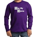 Kids Shirt Say My Name Long Sleeve Tee T-Shirt