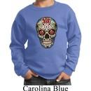 Kids Skull Sweatshirt Sugar Skull with Roses Sweat Shirt