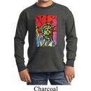 Kids USA Tee Statue of Liberty Painting Youth Long Sleeve