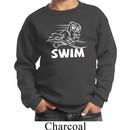 Kids White Penguin Power Swim Youth Sweatshirt