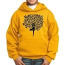 Kids Yoga Hoodie Black Tree Pose Hoody