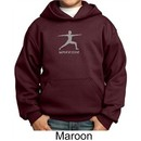 Kids Yoga Hoodie Sweatshirt Warrior 2 Pose Meditation Youth Hoody