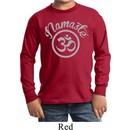 Kids Yoga Shirt Namaste Om Long Sleeve Tee T-Shirt