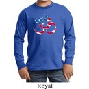 Kids Yoga Shirt Patriotic Om Long Sleeve Tee T-Shirt