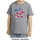Kids Yoga Shirt Patriotic Om Toddler Tee T-Shirt