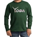 Kids Yoga Shirt Yoga Spelling Long Sleeve Tee T-Shirt