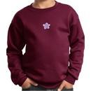 Kids Yoga Sweatshirt Layered Flower Patch Sweat Shirt