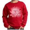 Kids Yoga Sweatshirt Lotus Flower Youth Sweat Shirt