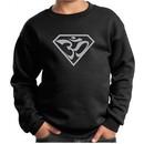 Kids Yoga Sweatshirt Super OM Youth Sweat Shirt