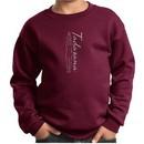 Kids Yoga Sweatshirt Tadasana Mountain Pose Youth Sweat Shirt