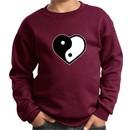 Kids Yoga Sweatshirt Yin Yang Heart Sweat Shirt