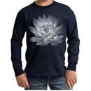 Kids Yoga T-Shirt Lotus Flower Youth Long Sleeve Shirt