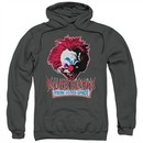 Killer Klowns From Outer Space Hoodie Rough Clown Charcoal Sweatshirt Hoody