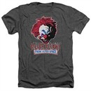 Killer Klowns From Outer Space Shirt Rough Clown Heather Charcoal T-Shirt
