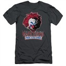 Killer Klowns From Outer Space Slim Fit Shirt Rough Clown Charcoal T-Shirt
