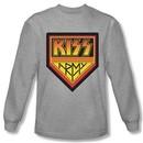 Kiss Shirt Rock Band Army Logo Long Sleeve Grey Tee T-Shirt