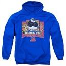 Kung Fu Panda 3 Hoodie Kung Furry Royal Blue Sweatshirt Hoody