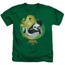 Kung Fu Panda 3 Kids Shirt Drago Po Kelly Green T-Shirt