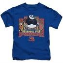 Kung Fu Panda 3 Kids Shirt Kung Furry Royal Blue T-Shirt