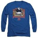 Kung Fu Panda 3 Long Sleeve Shirt Kung Furry Royal Blue Tee T-Shirt