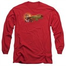 Kung Fu Panda 3 Long Sleeve Shirt Po Logo Red Tee T-Shirt