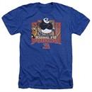 Kung Fu Panda 3 Shirt Kung Furry Heather Royal Blue T-Shirt