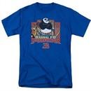 Kung Fu Panda 3 Shirt Kung Furry Royal Blue T-Shirt