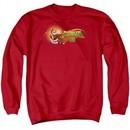Kung Fu Panda 3 Sweatshirt Po Logo Adult Red Sweat Shirt