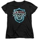 L.A. Guns Womens Shirt Shield Black T-Shirt