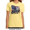 Ladies Biker Shirt American Pride Motorcycle Organic Tee T-Shirt