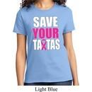 Ladies Breast Cancer Awareness Shirt Save Your Tatas Tee T-Shirt