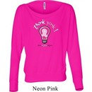 Ladies Breast Cancer Awareness Shirt Think Pink Off Shoulder Tee