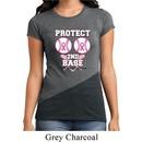 Ladies Breast Cancer Shirt Protect 2nd Base Tri Blend Crewneck Tee
