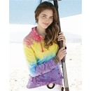 MV Sport Ladies Courtney Burnout Hoodie Sweatshirt